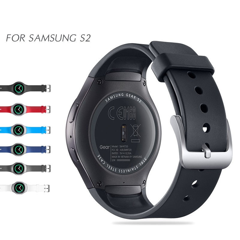 Sport Silicone Band For Samsung Gear S2 Smart Watch Band Stylish Silicone Replacement Strap