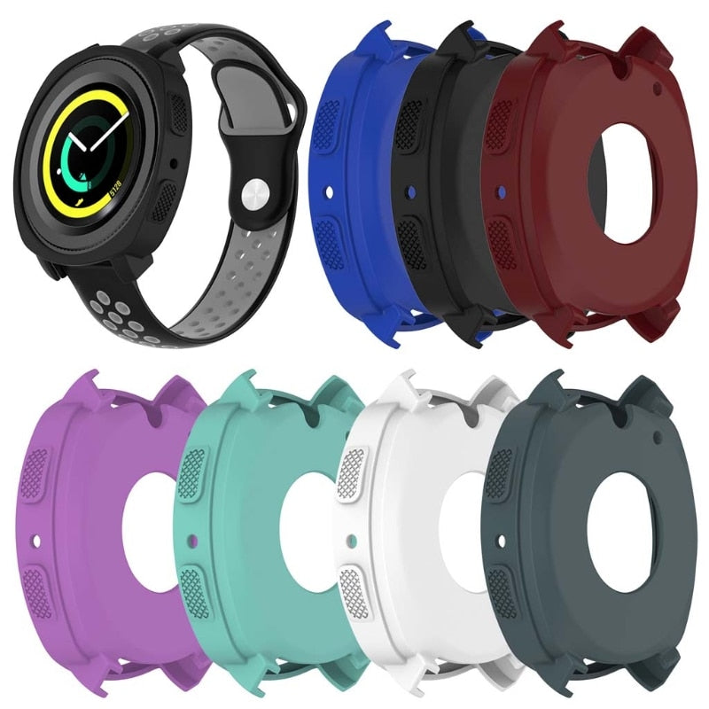 Watch Case Cover For Samsung Gear Sport R600 Smart Watch Silicone Protective Frame