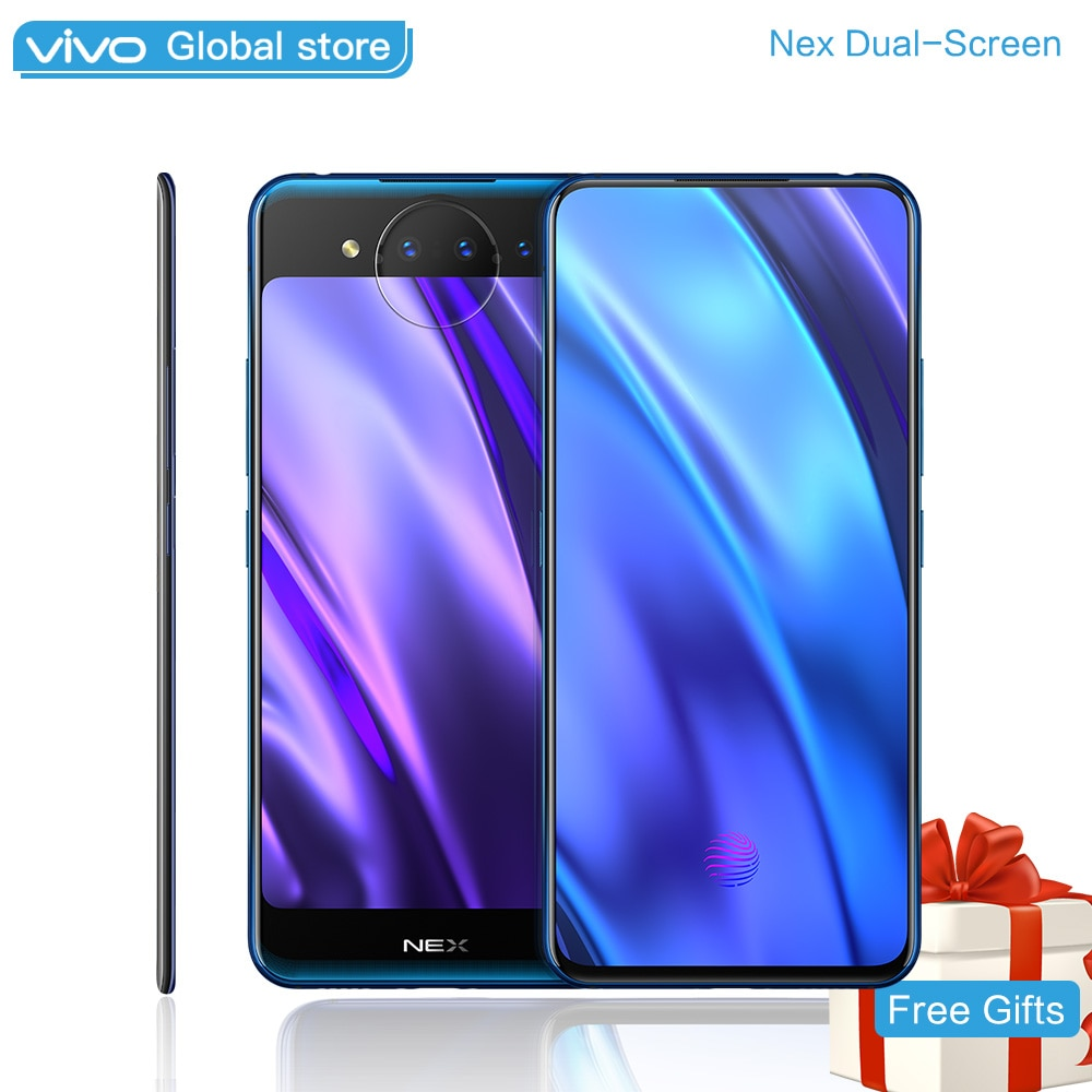 "vivo NEX 2 Dual-Screen SnapDragon 845AIE 10GB 128GB 6.39"" 5.49"" for Amoled Screen Triple Camera Octa Core Smart Cell Phone 4g"