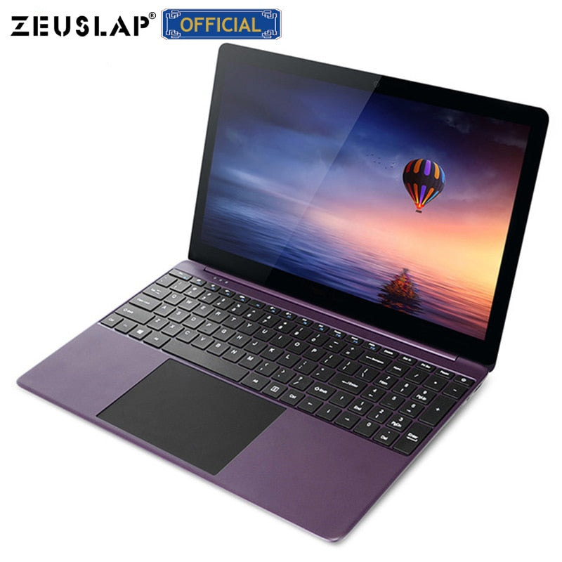 ZEUSLAP 15.6inch Metal Ultrabook 1920x1080P Full HD IPS Screen 6GB RAM+64GB eMMC Intel Quad Core CPU Laptop Notebook Computer