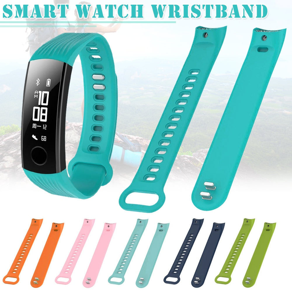 Fashion Casual Replacement Sports Silicone Bracelet Soft Strap Wrist Band For Huawei Honor 3 Smart Watch Band LXH