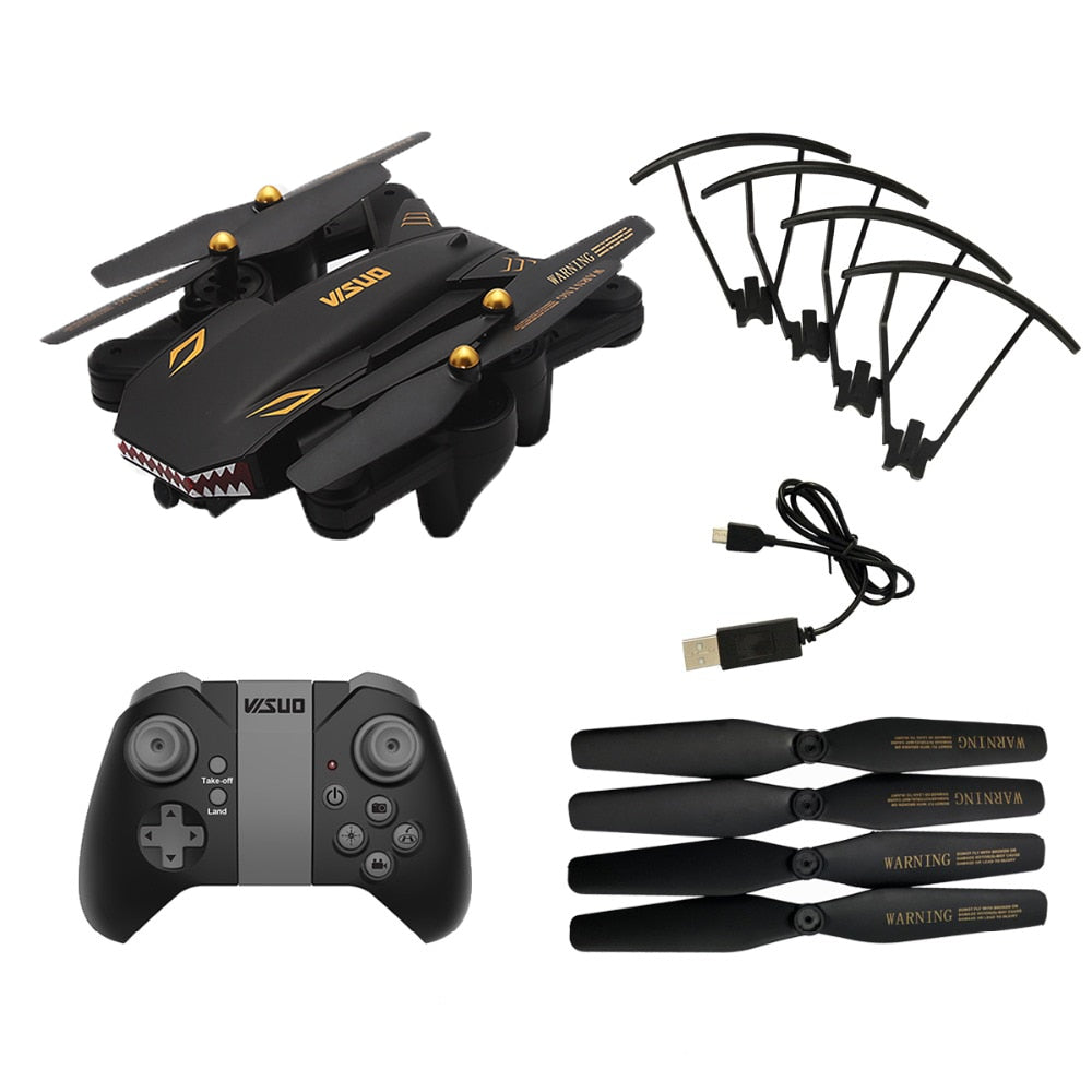 VISUO XS809S BATTLES SHARKS 720P WIFI FPV With Wide Angle HD Camera Foldable RC Drone Quadcopter RTF RC Helicopter Toys