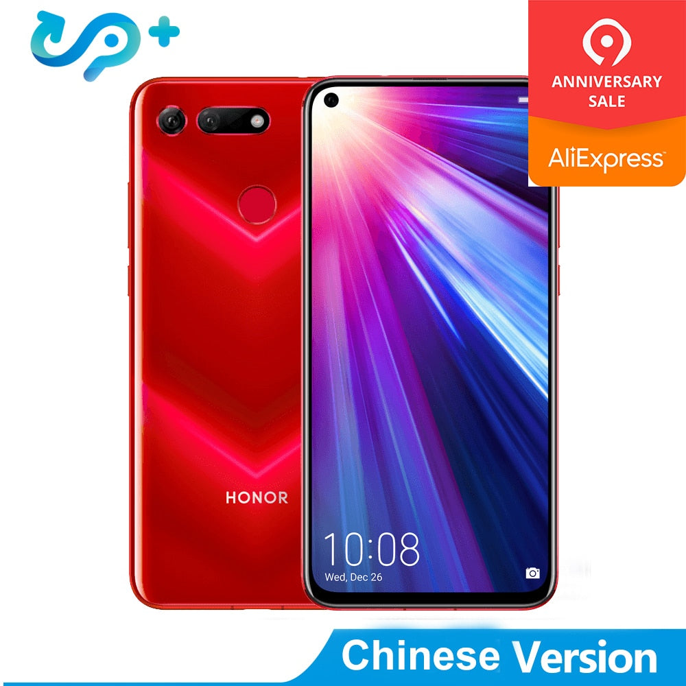 Huawei Honor View 20 Mobile Phone Honor V20 6.4 inch Full View Kirin 980 Octa Core Android 9.0 NFC 4000mAh Dual SIM Cell Phone
