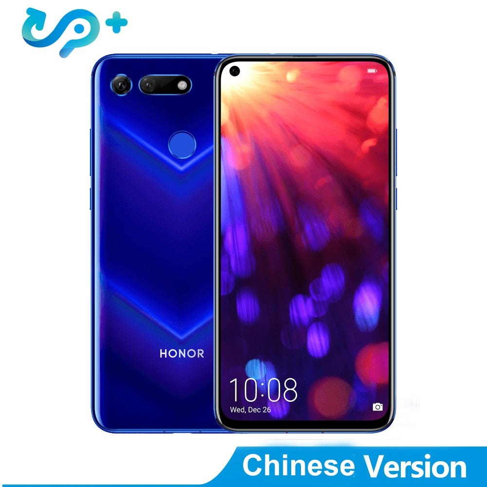 "DHL Original Delivery Huawei Honor V20 4G LTE Cell Phone Kirin 980 Android 9.0 6.4"" IPS 2310X1080 8GB RAM 256GB ROM 48.0MP NFC"