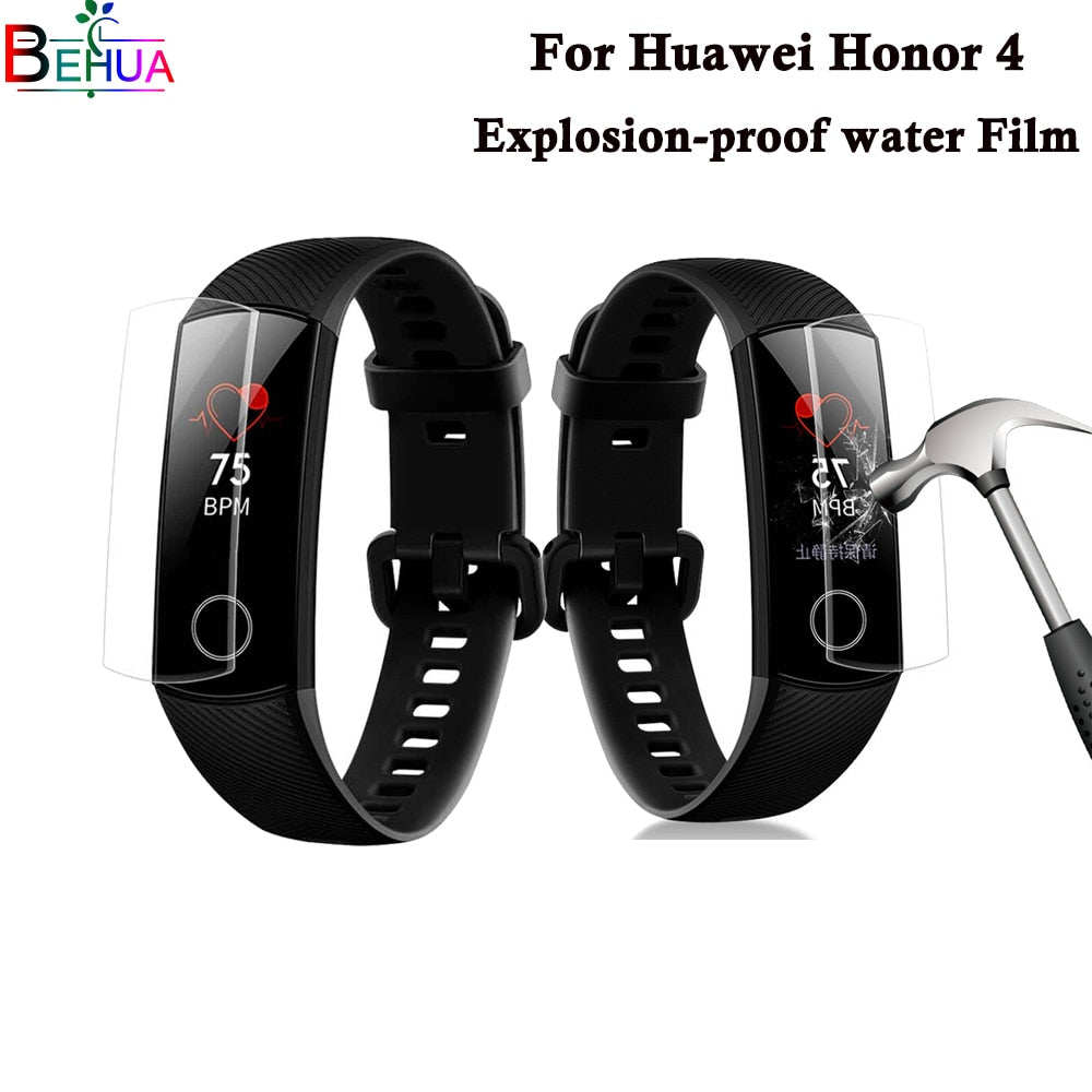 Screen Protector For Huawei Honor Band 4 smart watch screen protection Edge Anti-scratch Soft TPU Full Screen Protector