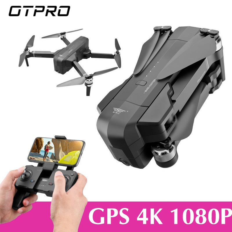 OTPRO Mi Drone WIFI FPV With 4K 30fps 1080P Camera 3-Axis Gimbal GPS RC Racing Drone Quadcopter RTF with Transmitter Z5 F11 DRON