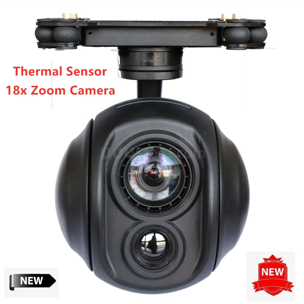 18x Zoom UAV Thermal Camera Gimbal Stabilizer Daylight Sensor for FPV Drone Aerial Cinematography Inspection Rescue Surveillance