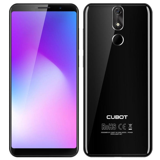 "Cubot Power 4G Smartphone 6000mAh Android 8.1 6GB +128GB 5.99"" Cell Phones MT6760 Octa Core Fingerprint ID 16.0mp Mobile Phone"