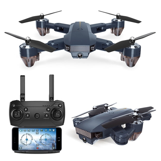 Mode Foldable Cheap RC Helicopters WiFi FPV 100m Drone with 720P HD Camera High Quality quadcopter rtf 0.3MP with Battery gift