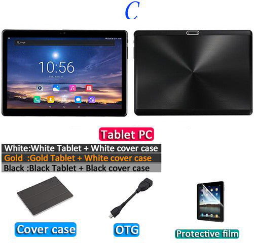 2019 MT6753 10.1' the Tablet Android 9.0 8 Core 6GB + 64GB  ROM Dual Camera 5MP SIM Tablet PC Wifi mirco Usb GPS bluetooth phone