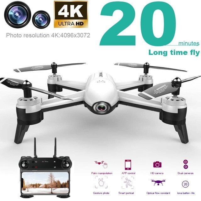 Sg106 Rc Drone 4k Optical Flow 1080p Hd Dual Camera Wifi Fpv Real Time Aerial Video Rc Quadcopter Helicopter Vs S20 E58 Xs816