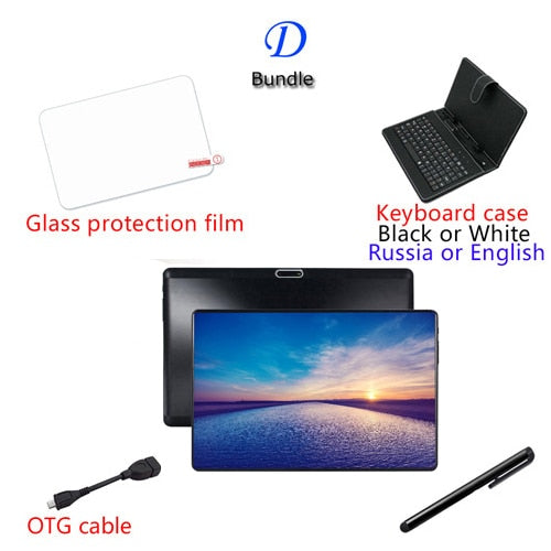 X10 Tab a  kids IPS tablet PC 3G Android 9.0 Octa Core Google store The tablets 6GB RAM 64GB ROM WiFi GPS 10' tablet with Case