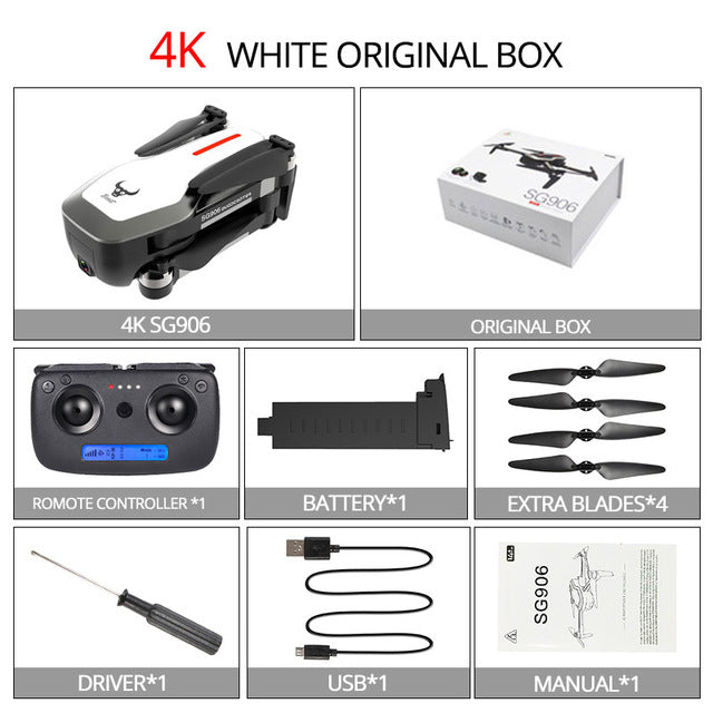 Brushless 4K FPV RC Drone with 5G WIFI HD Camera 25 Minutes Flight GPS Selfie Quadcopter Helicopter VS X5 S20 F11 H117S XS812