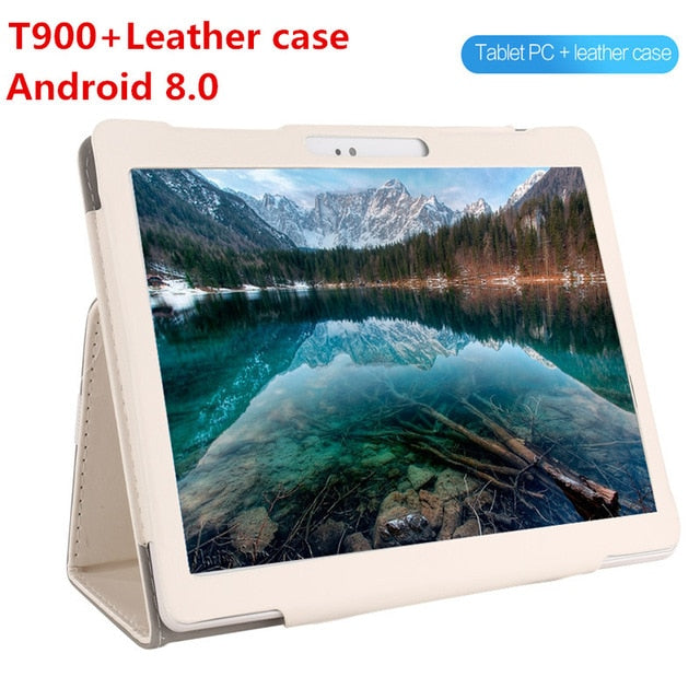 Android 8.0 GPS Tablet 10 inch Tablet Octa Core 3G 4G FDD LTE Phone Call 4GB RAM 128GB ROM Dual SIM 5.0MP Wifi Bluetooth + Gift