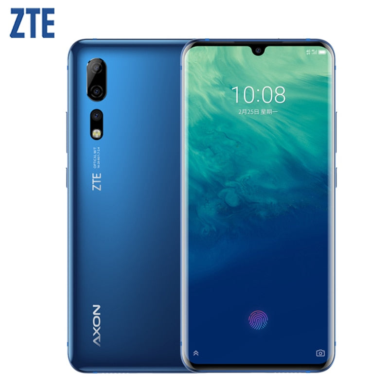 "ZTE Axon 10 Pro Cell Phone 6.47"" Flexible Curved Water Drop Screen 6G RAM 128G ROM Snapdragon 855 Octa-core 4G LTE Smartphone"