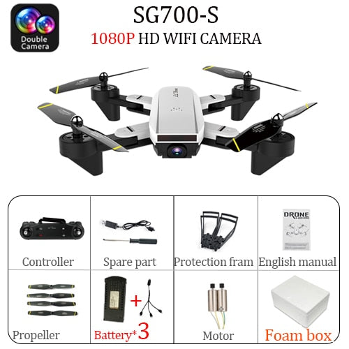 4K SG700S RC Drone dron helicopter Remote Control SG700 2.4G 4CH WiFi 1080P/720P Optical Flow Dual HD Camera  Quadcopter Drons