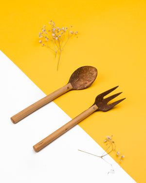 Upcycled Coco Spoon & Fork (Uniquely Handcrafted)