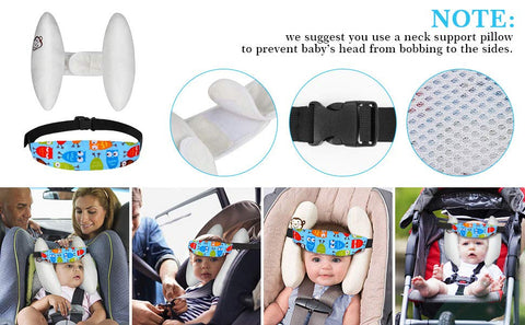 onezea-This adjustable car seat head support can be used for infants or toddler to keep the head in one position. It's soft on the skin, keeps the head from rolling and lets the baby have a good sleep while traveling in the car in car-seat or while you stroll the baby in the stroller. Once the baby is asleep, keep the padded part on the baby's head and strap it around the stroller or car seat