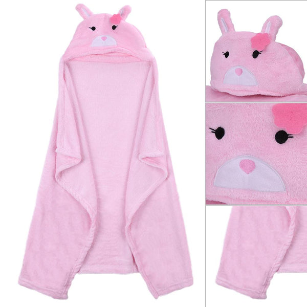 Comfortable hooded Bathrobe for babies with adorable animal faces - Onezea