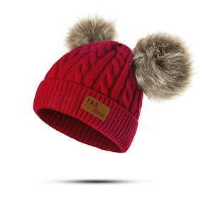 Woolen Knitted Beanies with pom pom(1 to 4 years) - Onezea