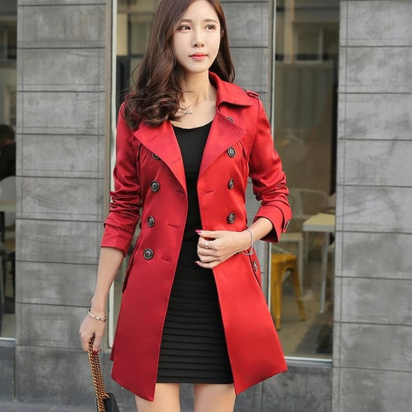 Double breasted British style Women's Trench Coat. - Onezea