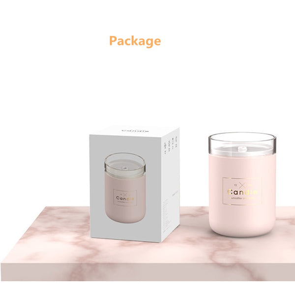 Soft-Light USB Ultrasonic Air Humidifier Oil Diffuser Candle - Onezea