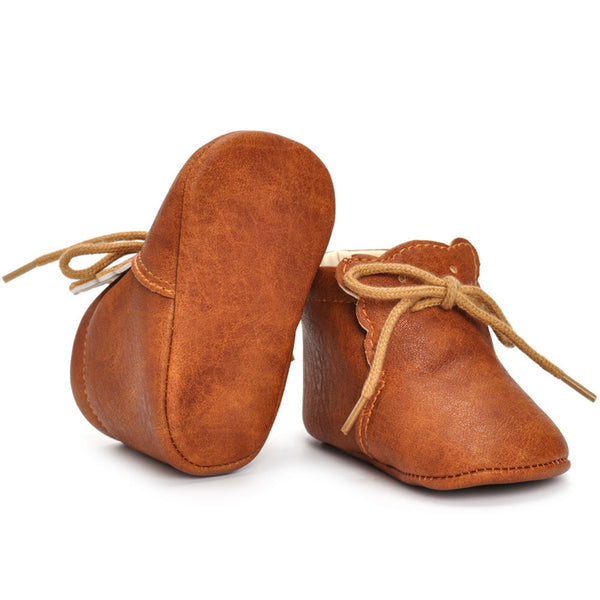Soft Sole Ankle Leather baby walking shoes - Onezea