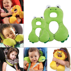 Soft ,adjustable head support for kids,used during travel, in stroller or car-seat - Onezea