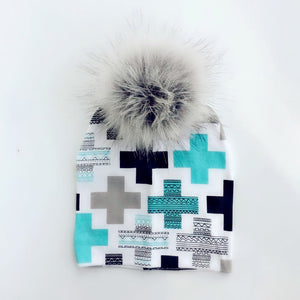 Pom pom caps for newborns - Onezea