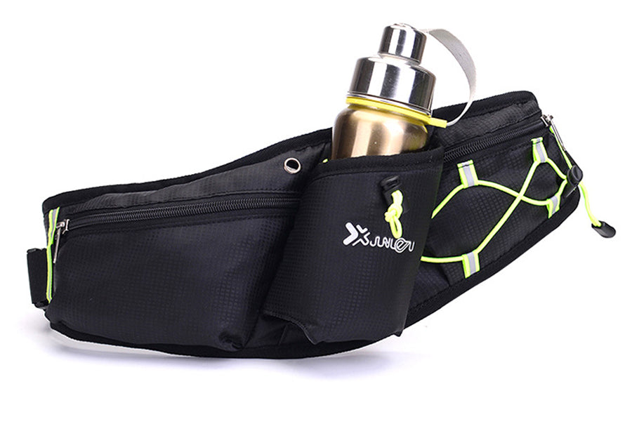 Running Fanny Pack with Water Bottle Holder , phone and card holder and comes with free sports towel. - Onezea