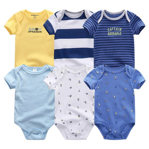 Set of 5, patterned New Born Baby onesies - Onezea