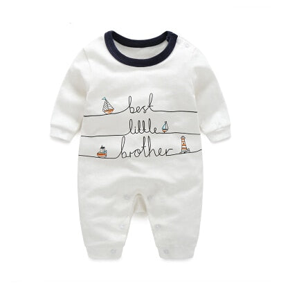 "Rompers with ""best little brother"" written and long sleeves. - Onezea"