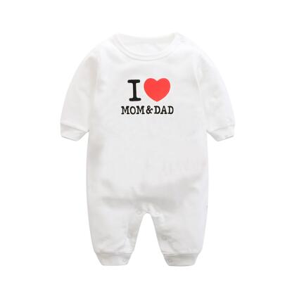 Rompers for babies, with I love mum dad written - Onezea