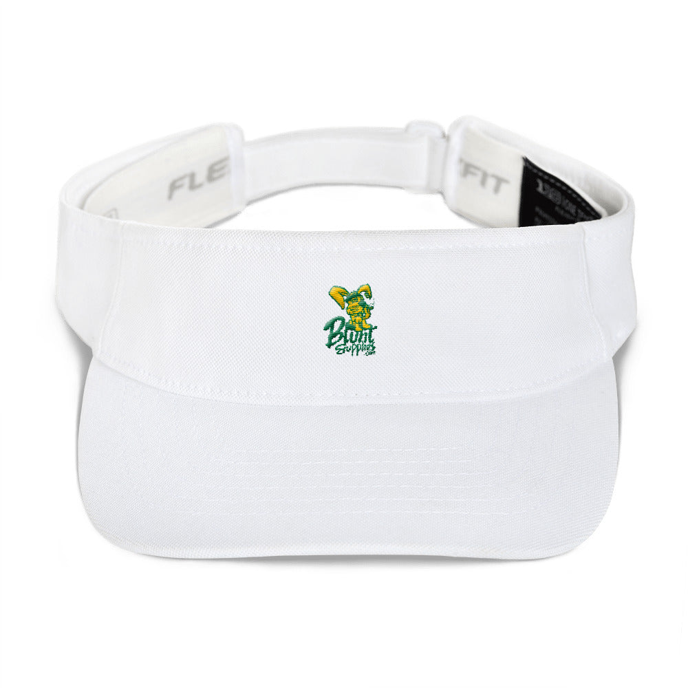 Sun Visor White w/ Green and Yellow Logo Blunt Supplies