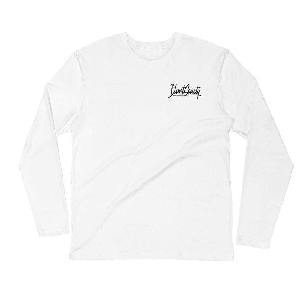 Blunt Society White Long Sleeve Fitted T-Shirt