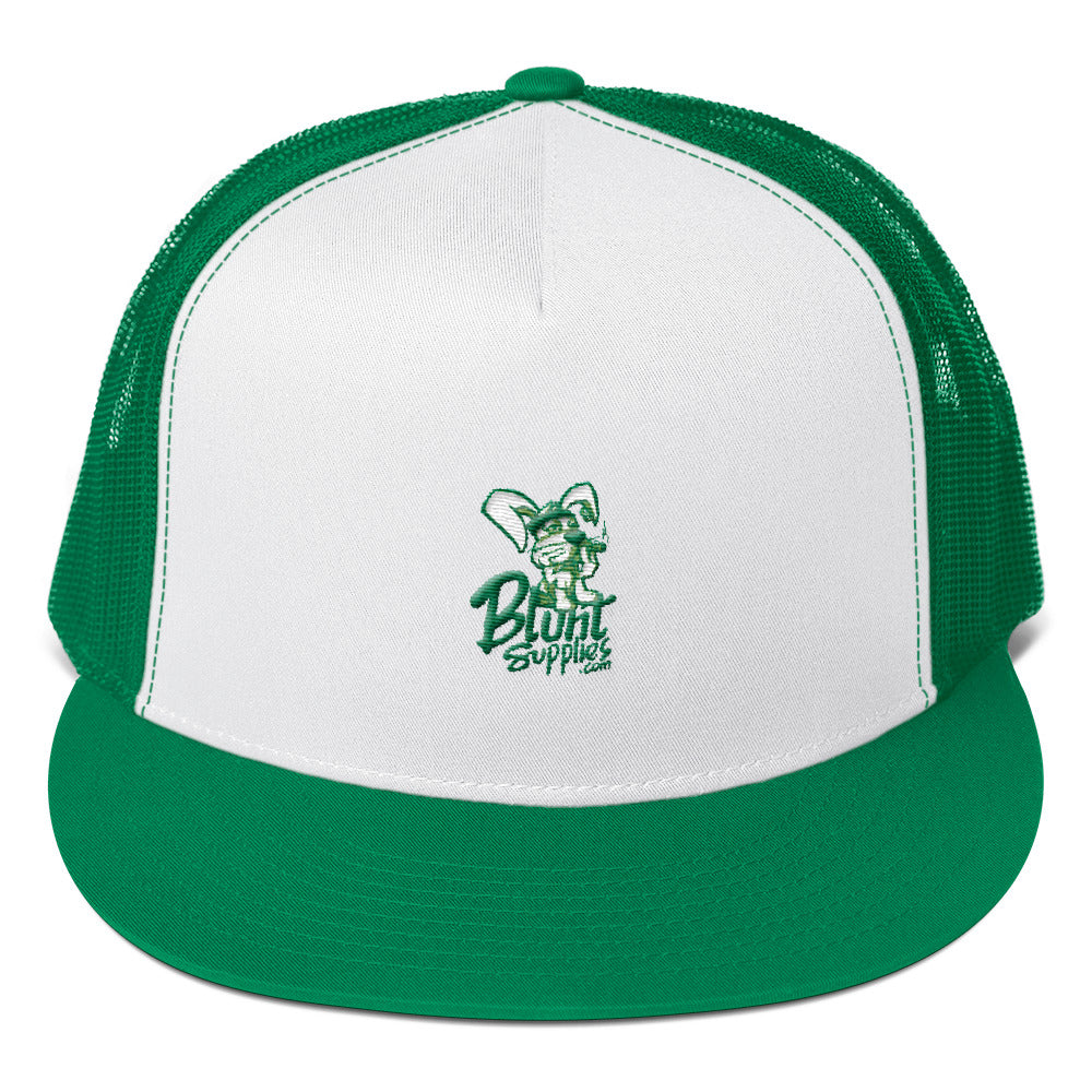 Trucker Hat (Green w/ Green and White Logo)