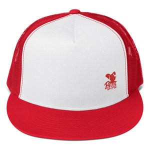 Trucker Hat (Red and White w/ Small Red Print Blunt Supplies Logo)
