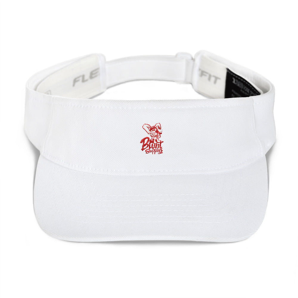 Sun Visor White w/ Red Logo Blunt Supplies (with adjustable flex fit)