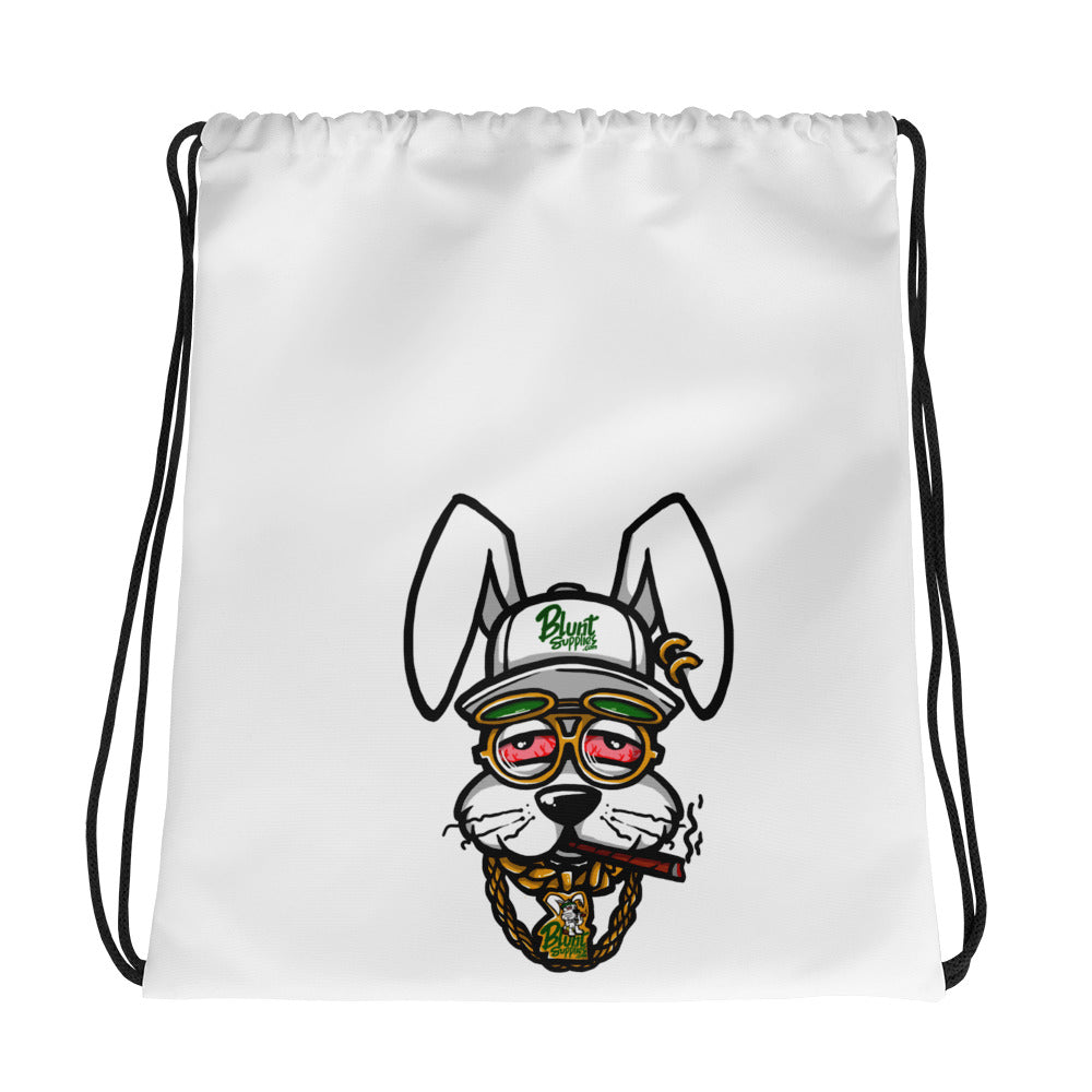 Blunt Supplies White Mascot Drawstring Bag