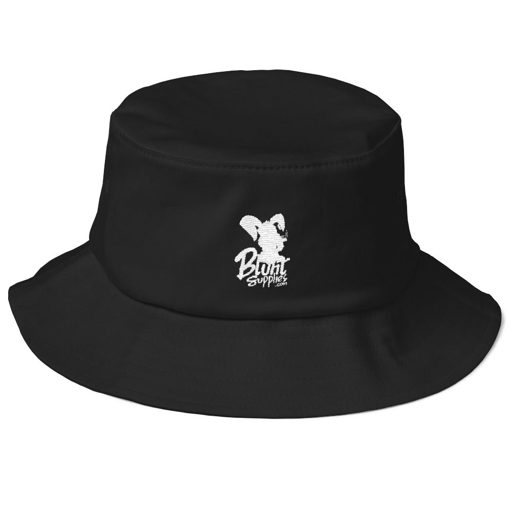 Bucket Hat (Black w/ White Print Logo Blunt Supplies)