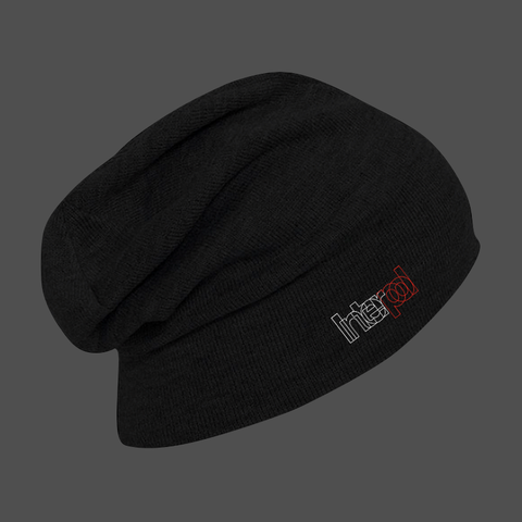 Outline Logo Black Beanie