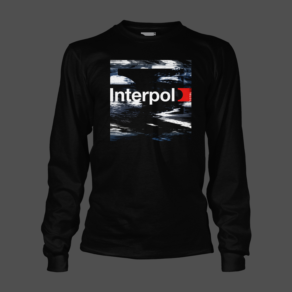 Distort Black Long Sleeve T-Shirt