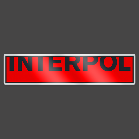 Interpol Enamel Badge