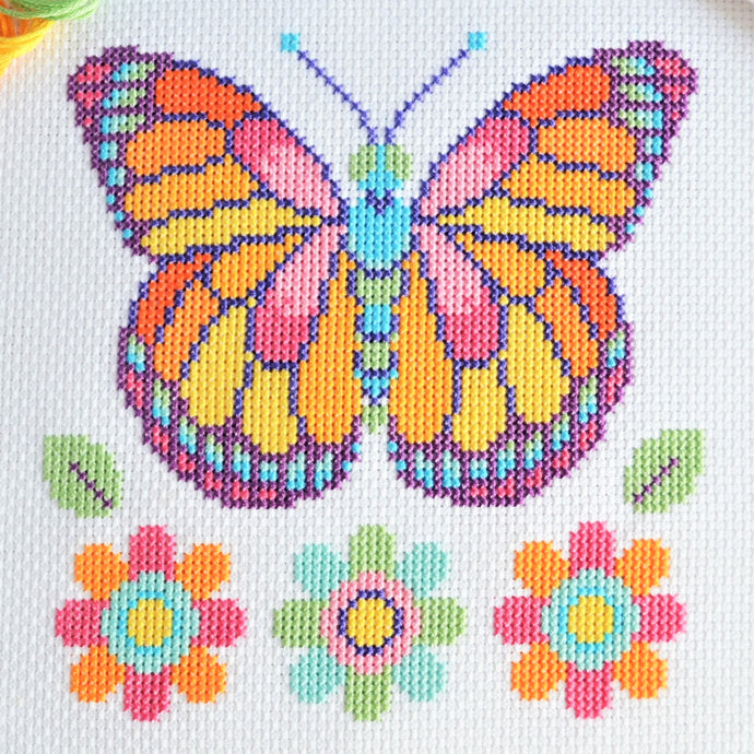 Free Butterfly Cross Stitch Chart