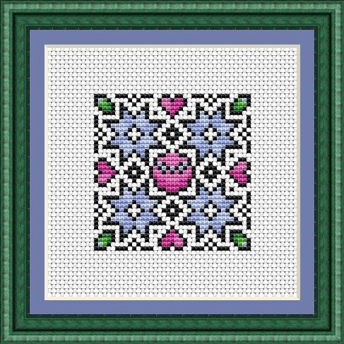 Mini Christmas Mandala Free Cross Stitch Chart