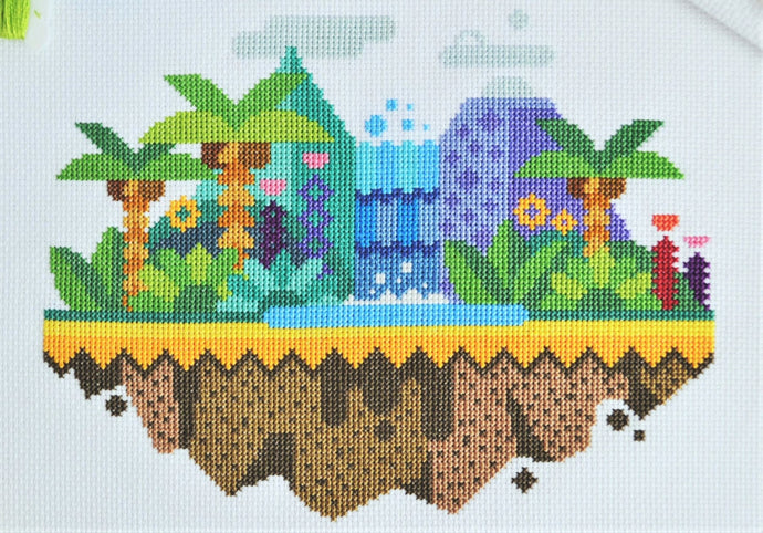 Tropical Island Free Cross Stitch Chart