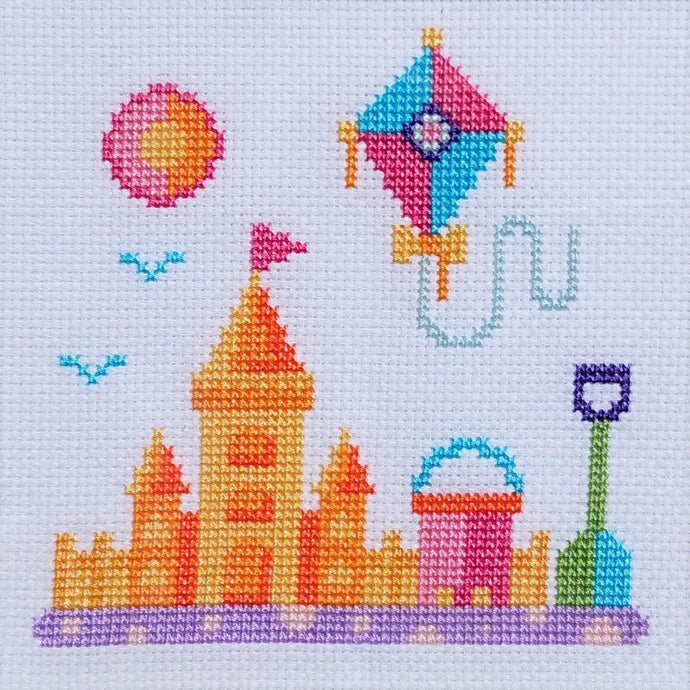 Free Cross Stitch Chart 'Beach Scenes' 1 of 3