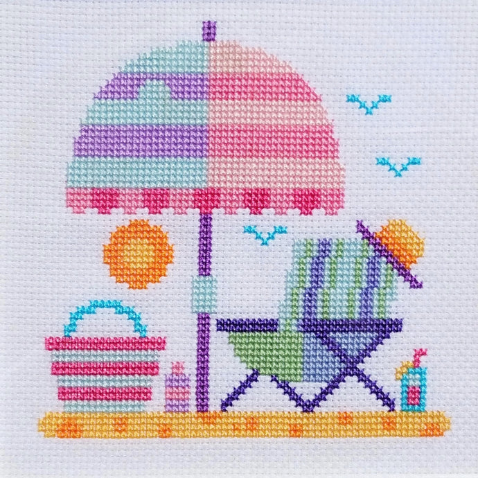 Free Cross Stitch Chart 'Beach Scenes' 3 of 3