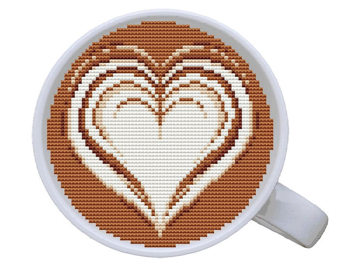 Latte Art Free Cross Stitch Pattern