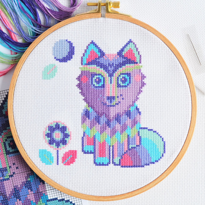 Maya the Wolf Cross Stitch Pattern